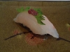 Tai with shiso and ume paste